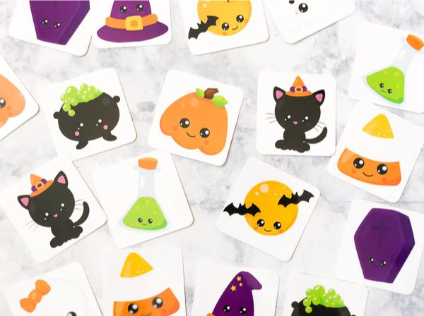 Free Printable Halloweens Memory Game For Kids #kids #children #educationalactivities #learningactivities