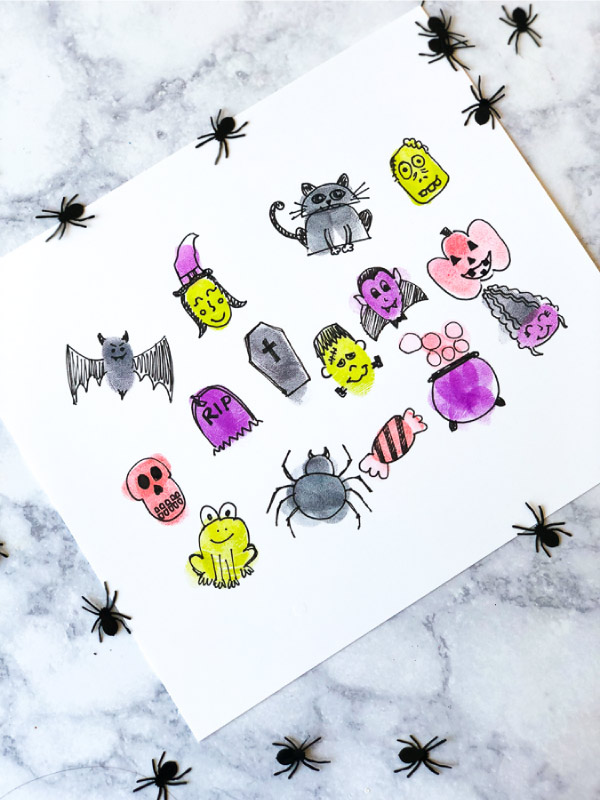 Halloween art projects for kids #kids #kidsart #kidsactivities #ideasforkids #preschool