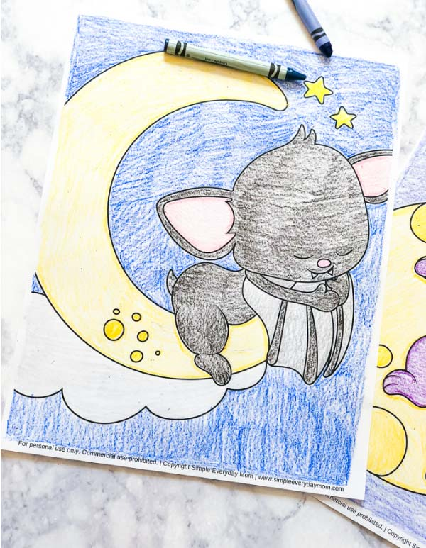Halloween Bat Coloring Pages For Toddlers #halloween #kids #children #coloringpages
