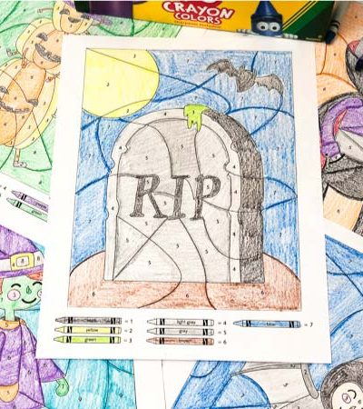 halloween color by number math worksheets