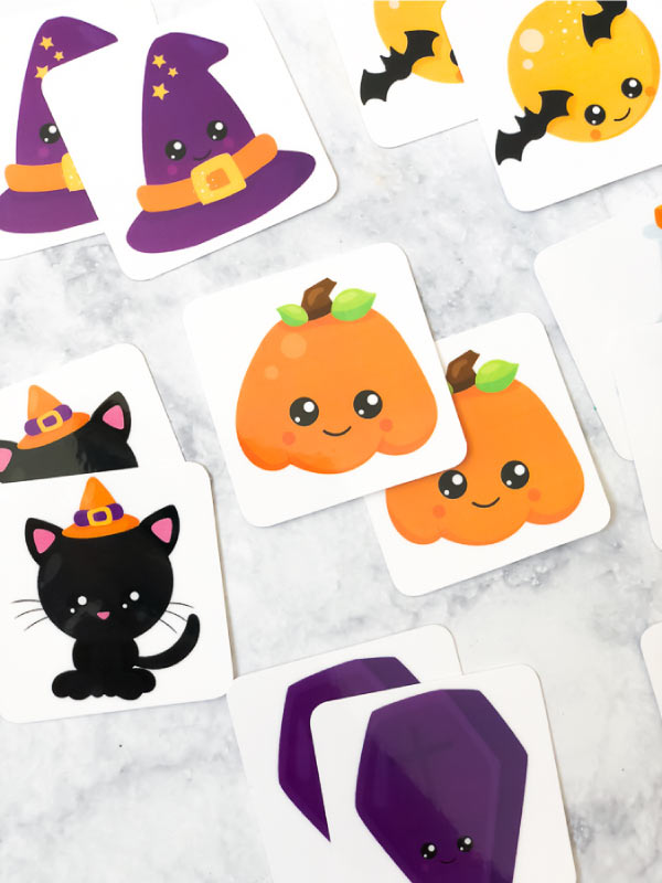 Kids Halloween Activities | Let the young kids play this Halloween memory game. It's perfect for school or home! #homeschool #preschool #totschool #printablesforkids #kids #kidsandparenting