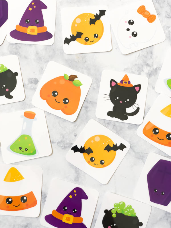 Free Halloween Printable Matching Game #kids #kidsandparenting #halloweenactivities #halloweengames #printablesforkids