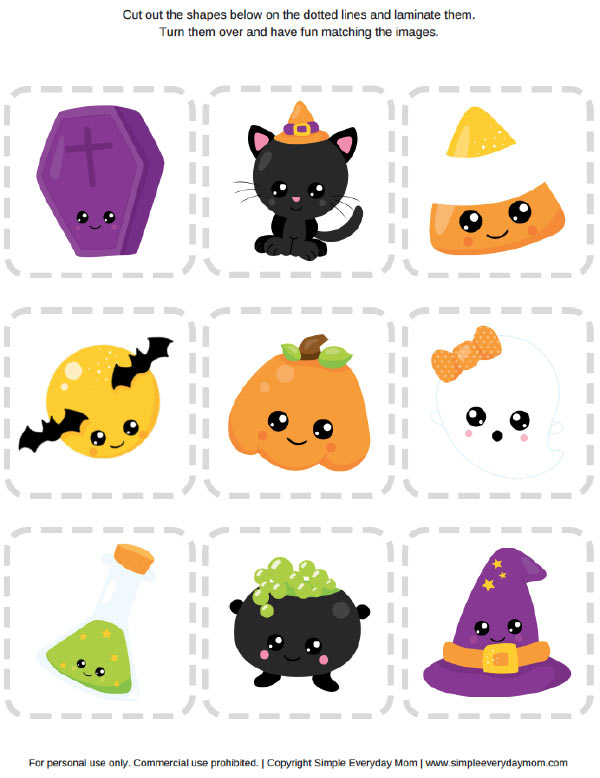 Halloween Matching Game Free printables