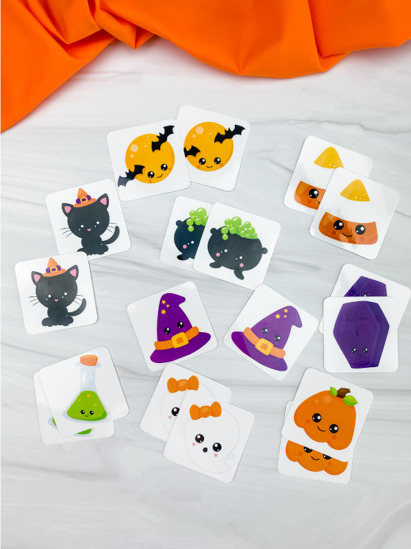 printable Halloween matching game