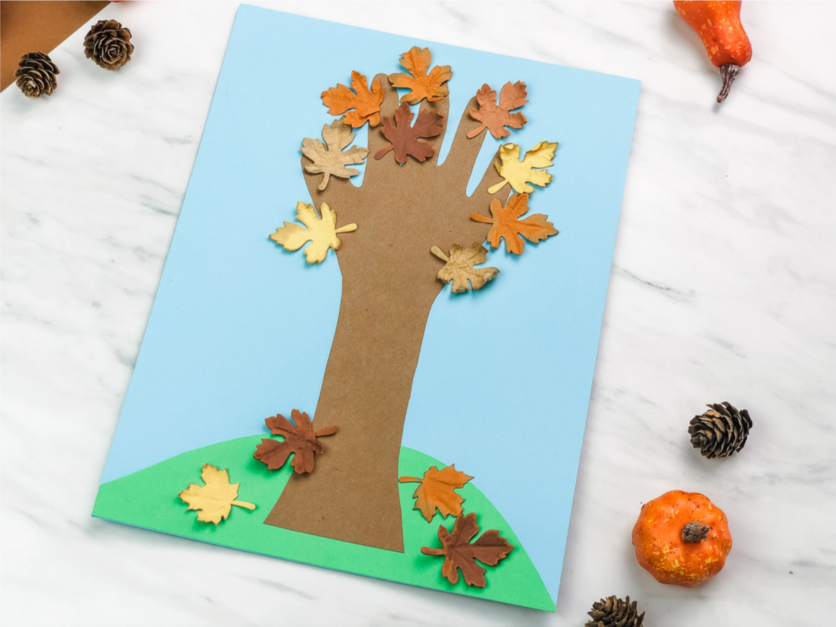 Handprint Fall Tree Craft For Kids
