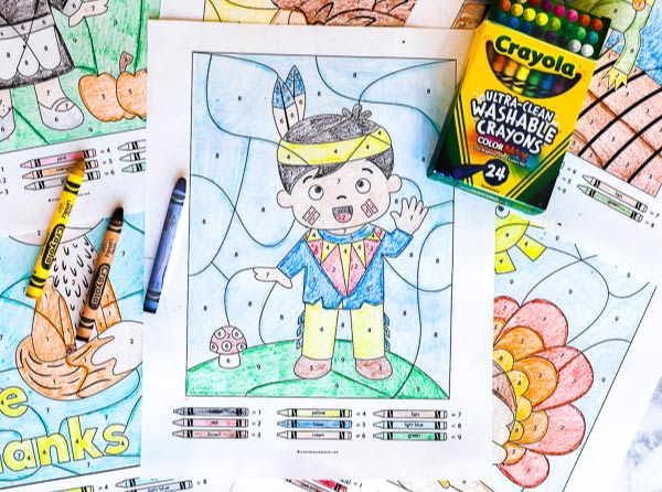 Thanksgiving math activities for kids #coloring #colorbynumber #earlychildhood #teaching