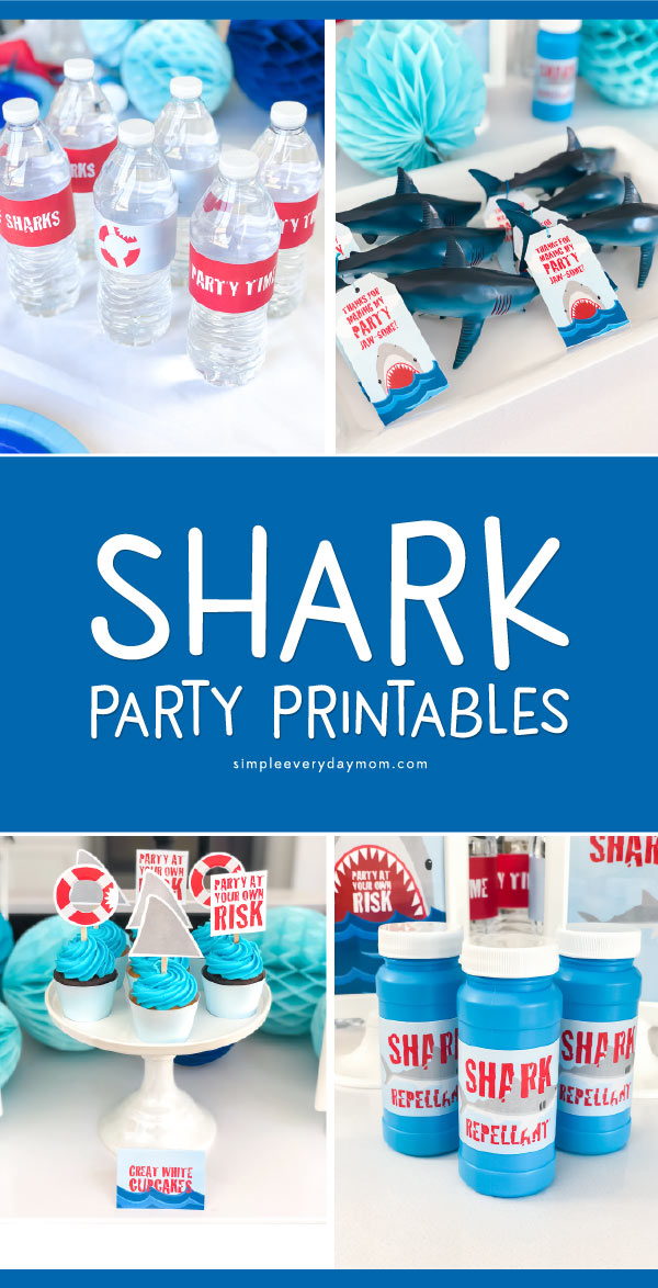 Shark Party For Kids | Find all the awesome shark birthday ideas you need to recreate your own fabulous party! From decorations to food, games, invitations, favors and more! This printable party pack is amazing! #sharkparty #party #partyplanning #kids #birthday #birthdayparty #themedbirthdayparties