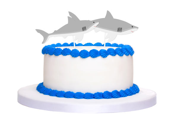 Shark Cake Topper Printables