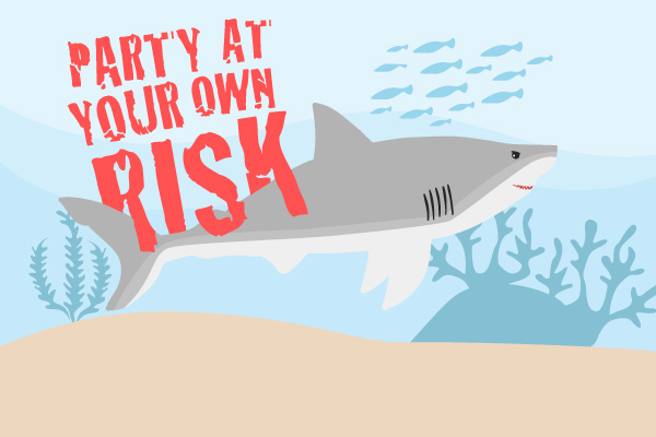 Shark Party Birthday Banner #parties #kidsparties #childrenspartyideas #partyideas