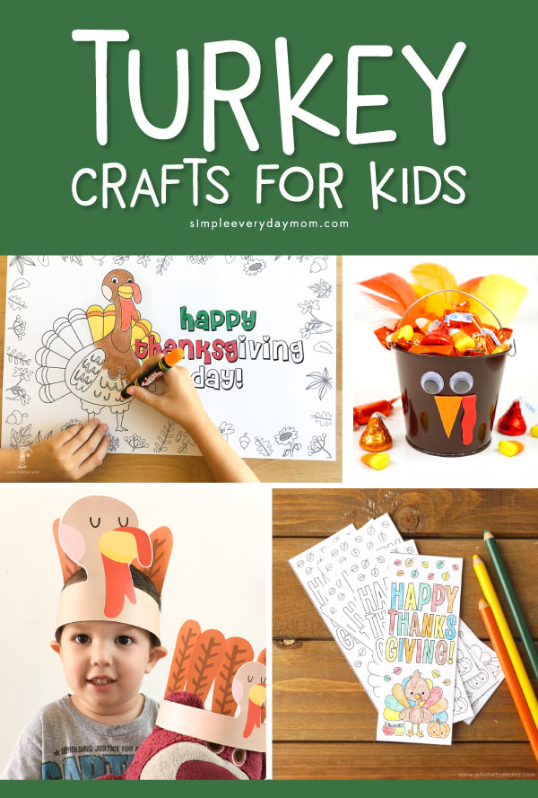 Turkey Crafts For Kids | Young children will loves these Thanksgiving activities that revolve around turkeys! There are free printables, crafts and more! #kidsactivities #ideasforkids #thanksgiving #thanksgivingcrafts #craftsforkids