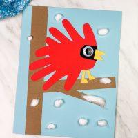 Cardinal Handprint Craft For Kids