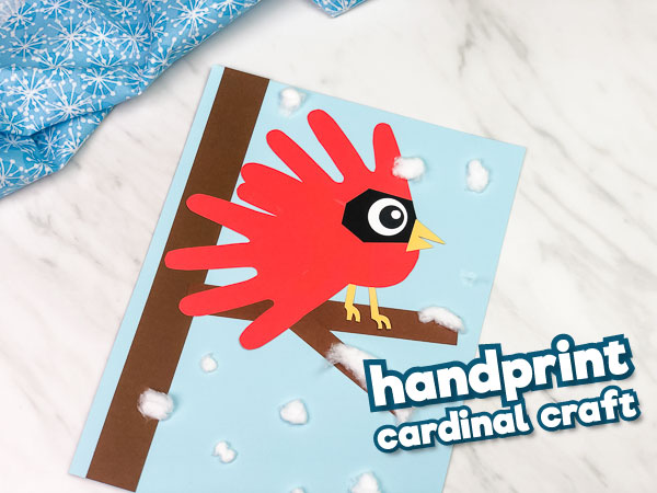 A Wintery Cardinal Handprint Craft For Kids