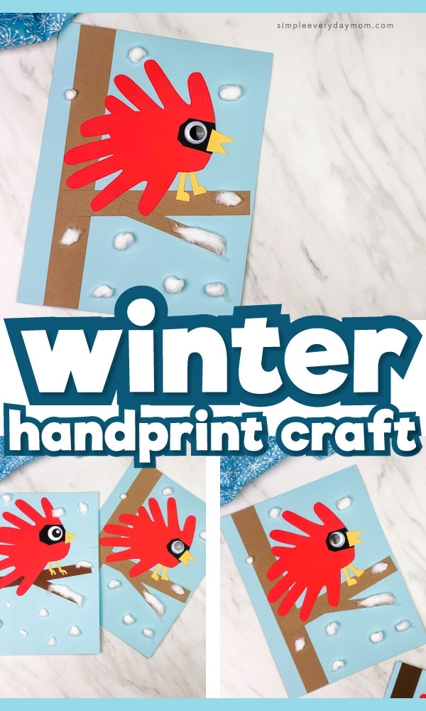 handprint cardinal craft