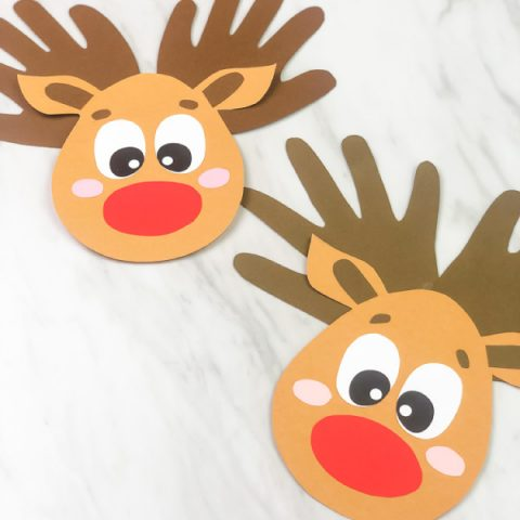 Handprint Reindeer Craft