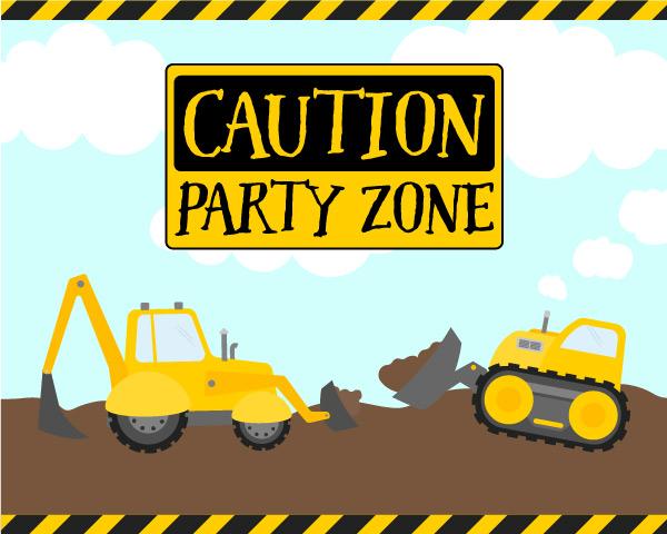 Construction Party Door Sign 16x20 #party #partyideas #diy