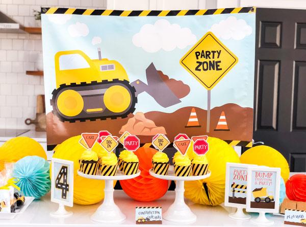 set of 10 Orange plastic  construction cones kids party zone a party zone
