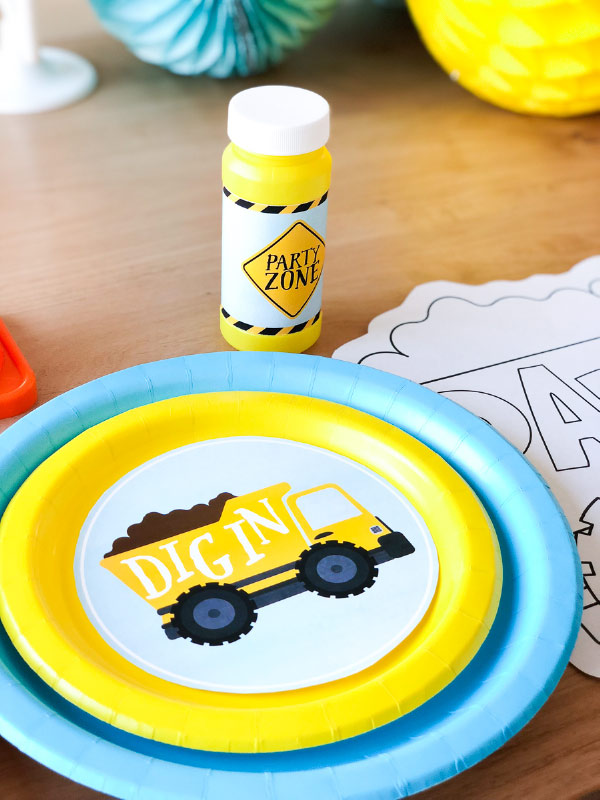Boys Birthday Ideas | Plan a DIY construction party for little kids with these ideas and printable pack. #boys #birthdayideas #partyplanning