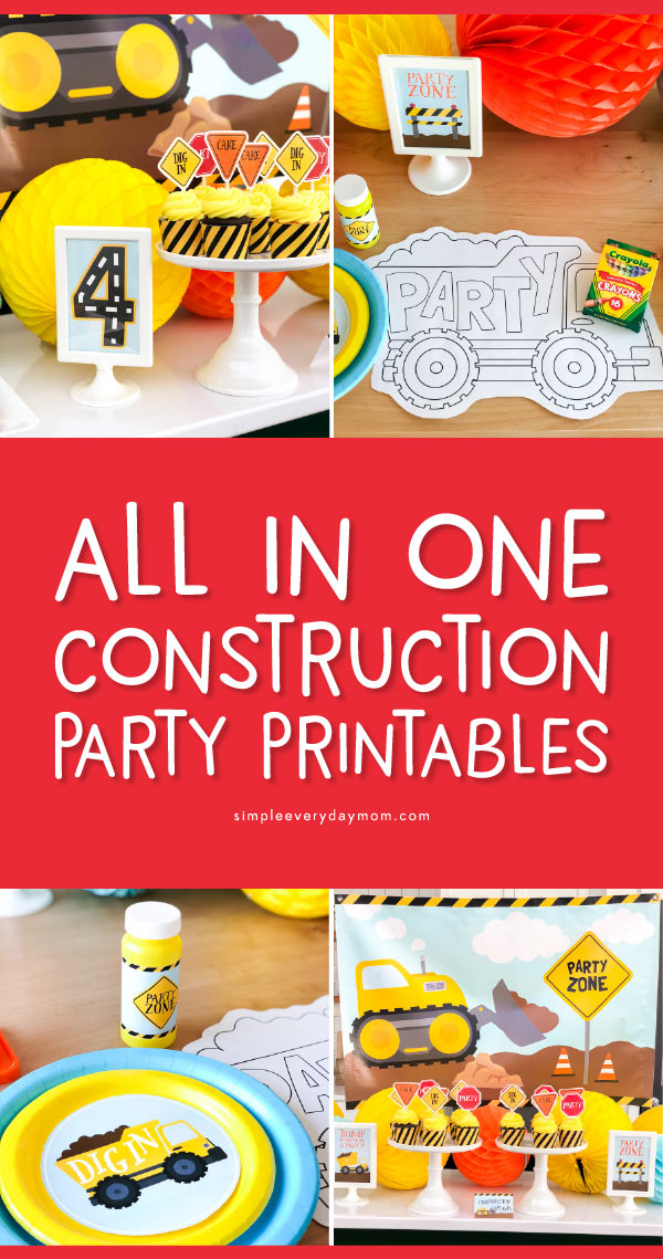Construction Party Ideas | Find everything you need to throw an amazing construction party from food ideas, decorations, games, printable packs, cake and cupcake ideas, invitations, favors and more!