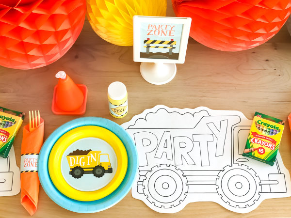 First Birthday Party For Boys | Say Happy Birthday with this cool construction themed birthday party. #kids #kidsandparenting #ideasforkids
