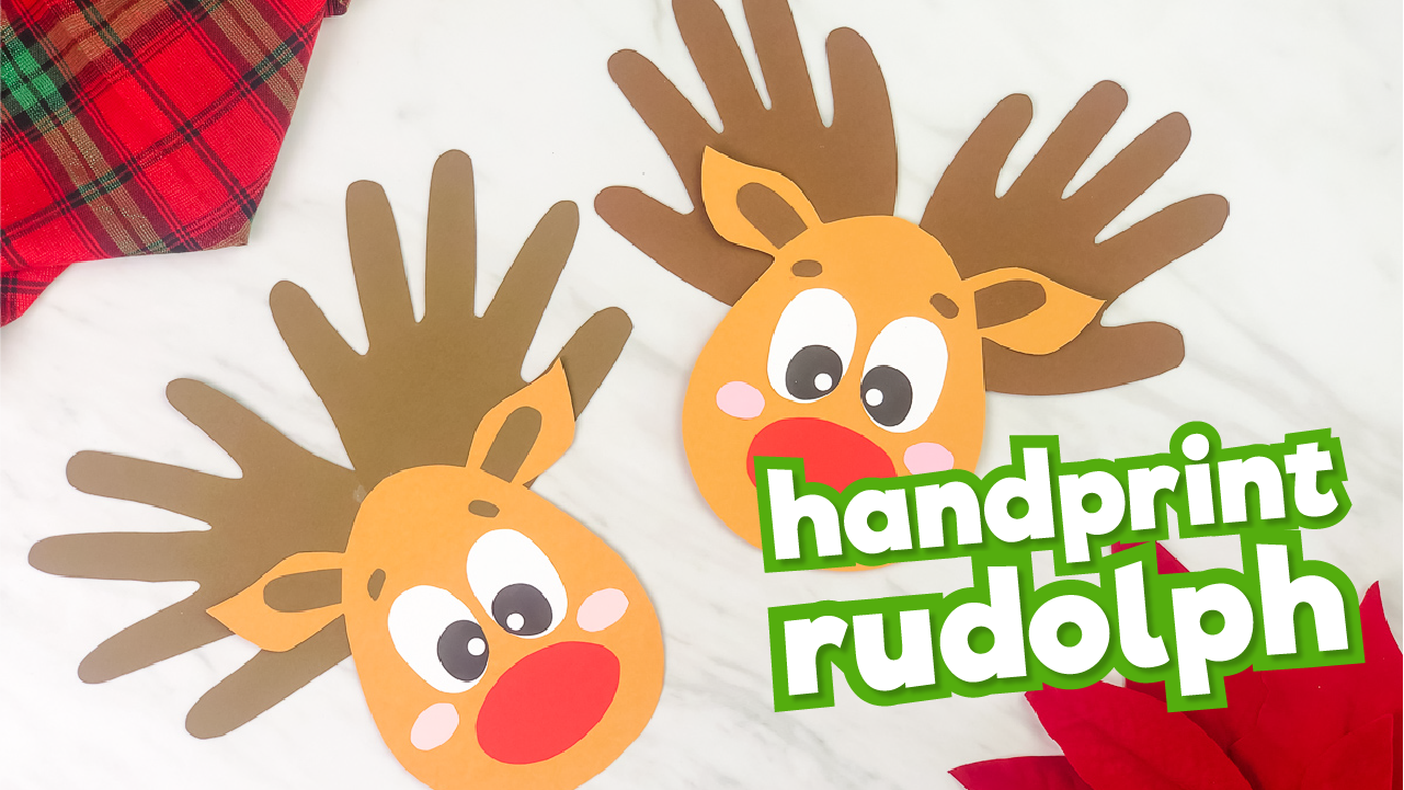 Handprint reindeer crafts