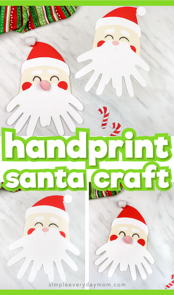 handprint santa craft