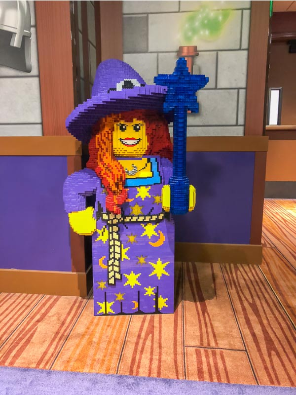 Legoland castle hotel giant sized minifigures
