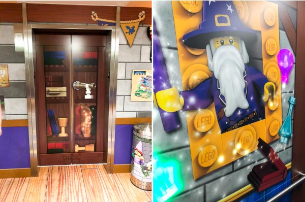 Legoland castle hotel elevators