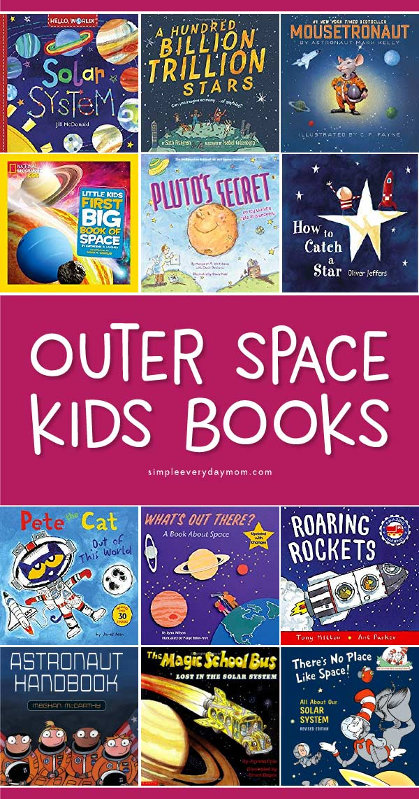 Space Books For Kids | Children will love reading and learning about our solar system with these awesome space books. #children #childrensbooks #kidsbooks #learningactivities #space