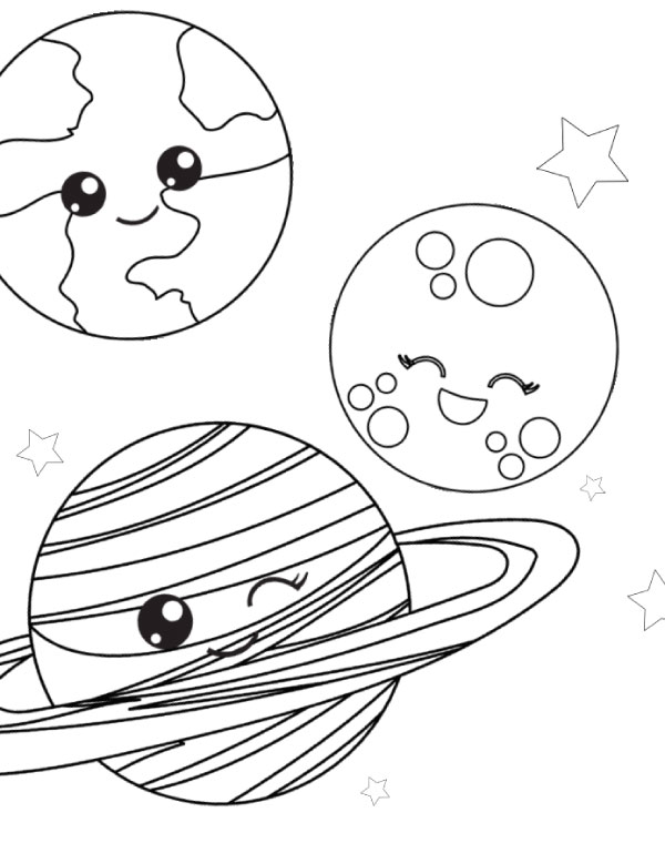 Free Printable Space Coloring Pages For Kids