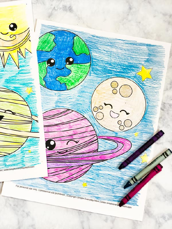 Space Coloring Pages Free Printable #homeschool #coloringpages #artforkids #kidsart