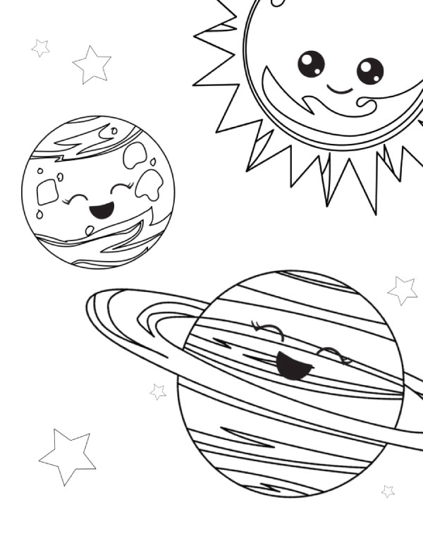 Free Outer Space Coloring Page Pictures #educationalactivities #learningactivities #earlychildhood