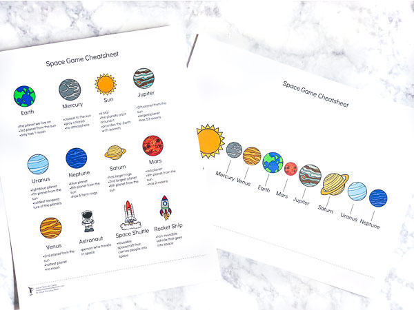 Teach kids fun facts about the planets in our solar system with this printable game! #kids #homeschool #thirdgrade #gradeschool