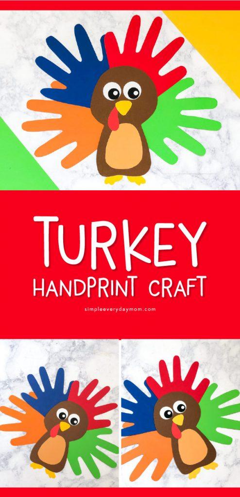 Turkey Craft   Kids will love making this easy handprint turkey this Thanksgiving. #kids #kidsandparenting #thanksgiving #thanksgivingcraft #craftforkids #kidscrafts #kidsart #teacher #teachingkindergarten