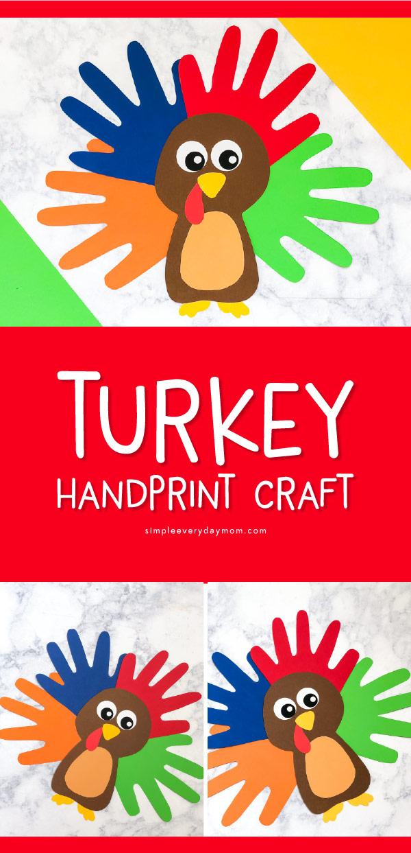 Turkey Craft | Kids will love making this easy handprint turkey this Thanksgiving. #kids #kidsandparenting #thanksgiving #thanksgivingcraft #craftforkids #kidscrafts #kidsart #teacher #teachingkindergarten