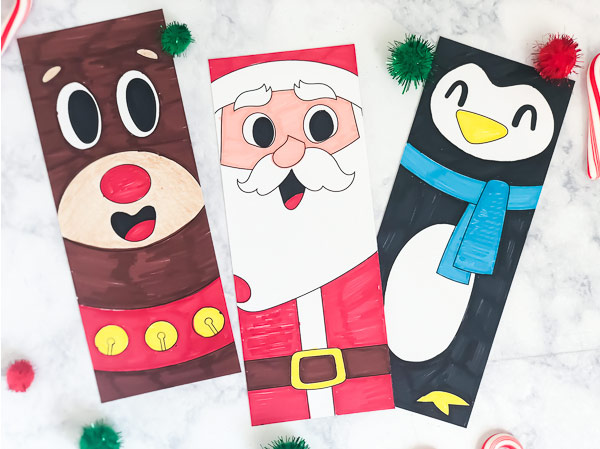 Free Printable Christmas Colouring Page Bookmark | Download these simple and cute printable bookmarks for kids to color in this winter time! #kids #christmas #christmascrafts #activitiesforkids #kidsactivities #ideasforkids #preschool