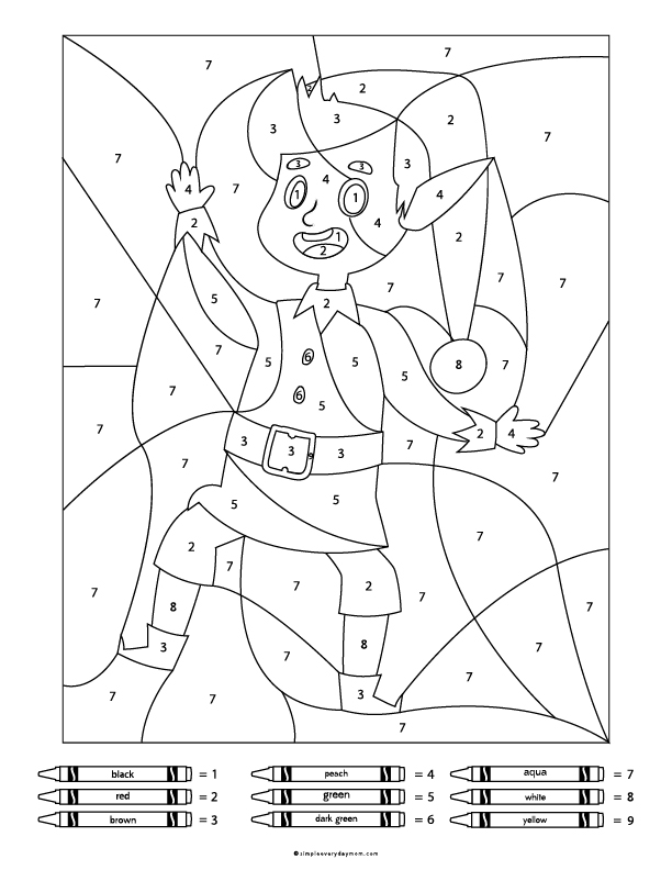 Elf Color By Number Printable For Kids | Download these fun colour by number worksheets for your kids or students! #earlychildhood #kidsactivities #coloringpage #teacher