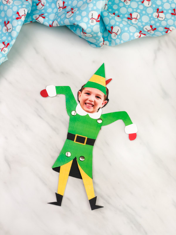 Buddy the elf photo craft for kids