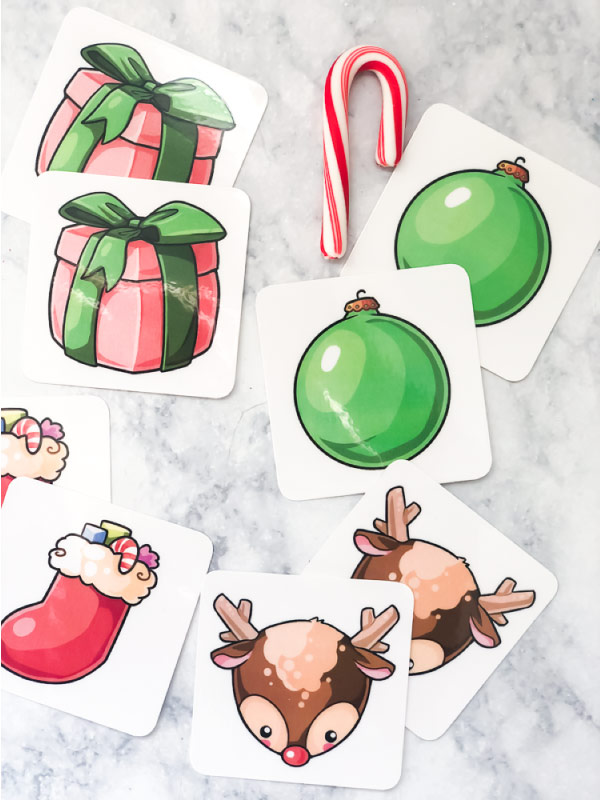 Free Christmas Printable For Kids | Download this fun Christmas matching game that's great for use in the classroom or at home! #homeschooling #homeschool #elementary #teachingkindergarten #teacher