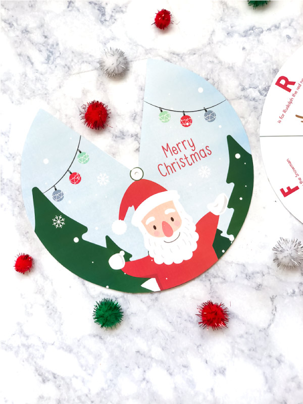 Free Printable Christmas Spinner For Kids #kids #christmas #earlychildhood