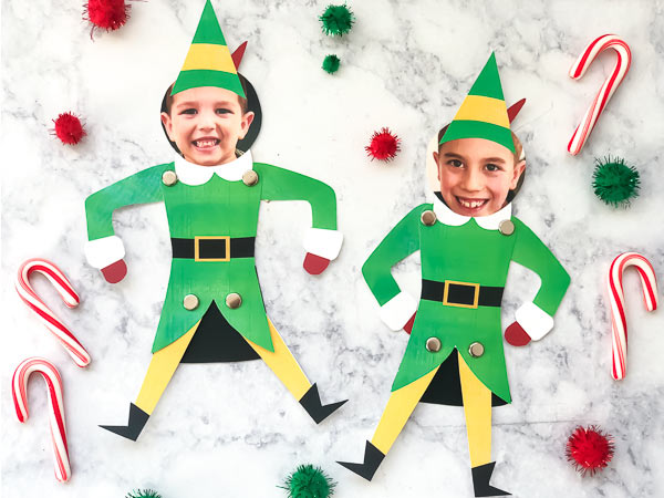 Free Printable Elf Craft For Kids #kids #kidsandparenting #teaching #kindergarten #preschool #ece