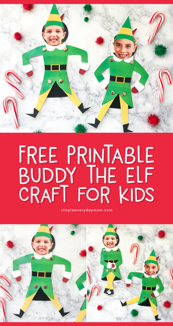 image regarding Free Printable Elf Pattern titled Cost-free Printable Friend The Elf Craft For Children