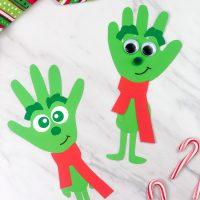 Grinch Handprint Craft For Kids