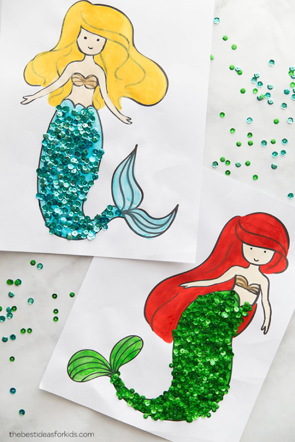 mermaid coloring page for party #mermaids #girlsparty #girlsbirthdayparties