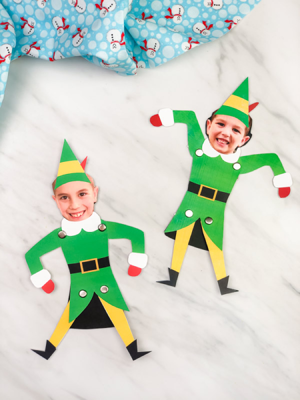 Two buddy the elf photo crafts for kids