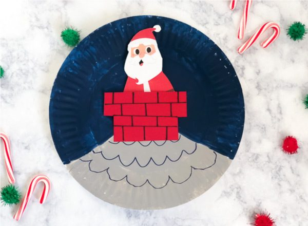 Christmas Paper Plate Craft For Kids | Make this simple Santa craft that preschoolers and kindergarteners love playing with! #kids #preschool #kindergarten #elementary #earlychildhood #christmascraftsforkids