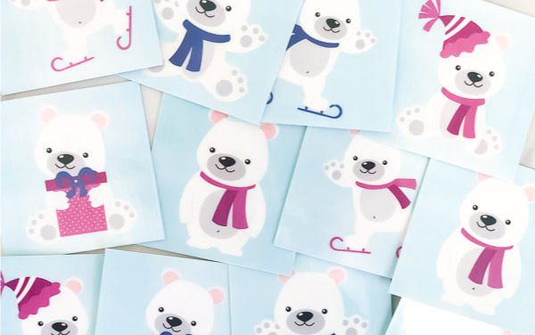 closeup of polar bear memory game