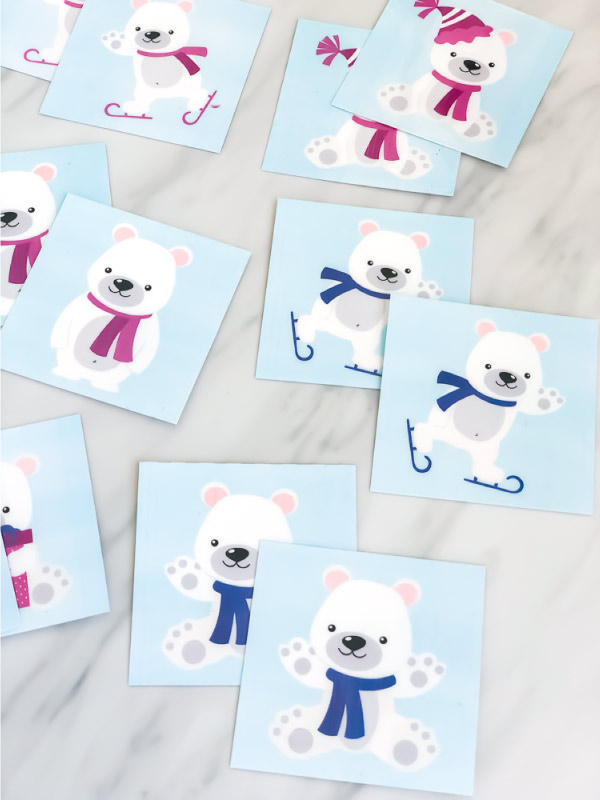 polar bear memory game