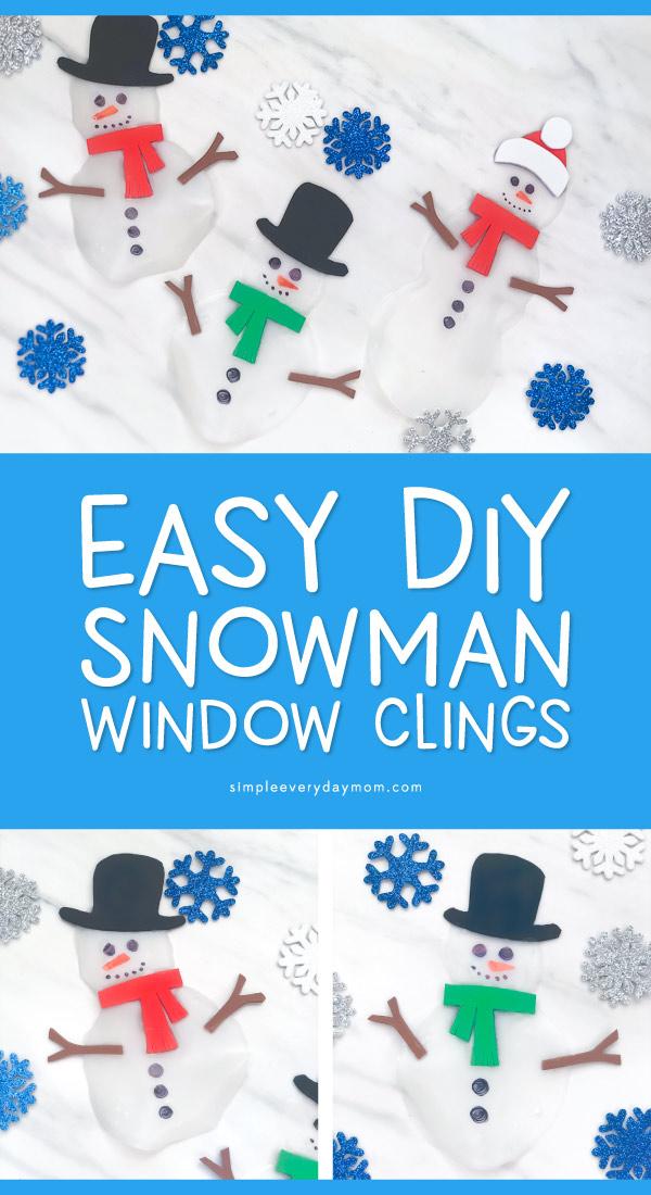 3 glue snowmen