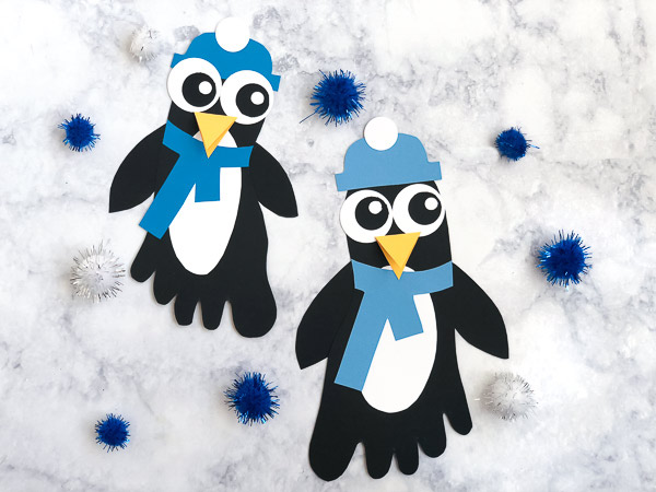 Footprint Penguin Craft For Kids #kids #kidsandparenting #preschool #kindergarten #elementary