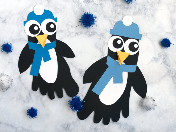 Penguin craft for kids #kids #kidscrafts #kidsactivities
